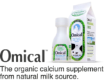 Omical: The organic calcium supplement from natural milk source.